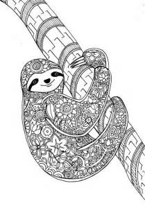 flower sloth art therapy coloring book animal dreamers check