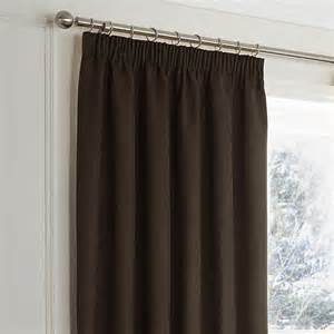 Faux Suede Blackout Curtains Faux Suede Blackout Pencil Pleat Door Curtain Chocolate