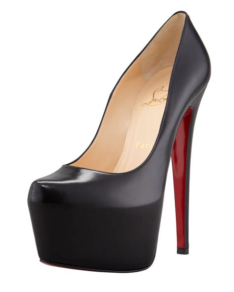 Christian Louboutin Platform Heels by Christian Louboutin New Simple Suede Platform Sole