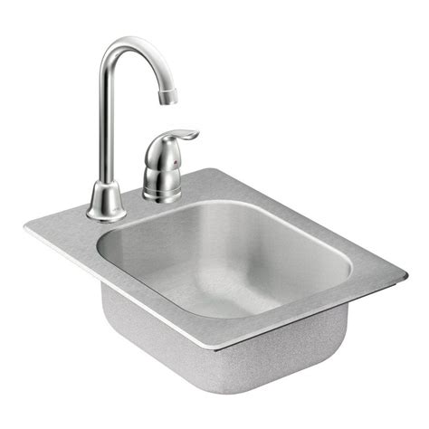 Home Bar Sinks Moen 2000 Series All In One Drop In Stainless Steel 13 In