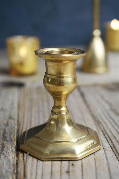 3 Candlestick Holder Gold Metal 3 Quot Taper Candle Holder Antique Candlestick
