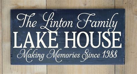 lake house names rustic wood signs personalized gifts names wedding beach lake quotes artfire com