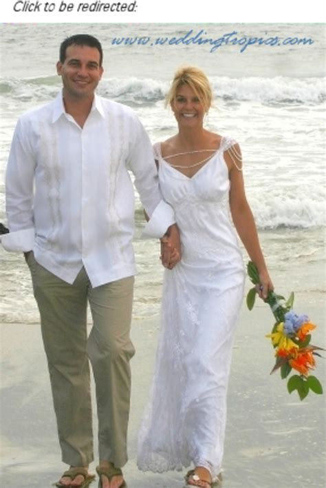 Summer casual wedding dresses beach wedding attire guayabera