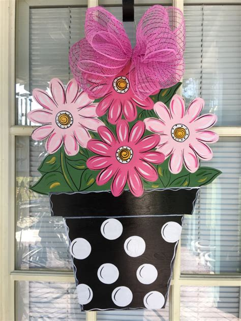 Front Door Decor Spring Door Hanger Flower Door By Front Door Hanging