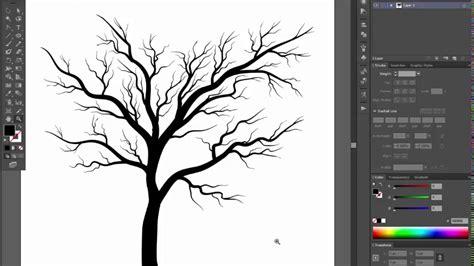 adobe illustrator cs6 pattern tutorial bare tree adobe illustrator cs6 tutorial quick and easy