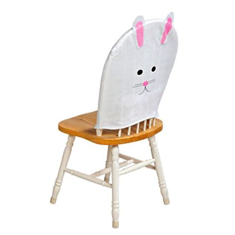 Bunny Chair by White Pink Felt Easter Bunny Rabbit Chair Cover