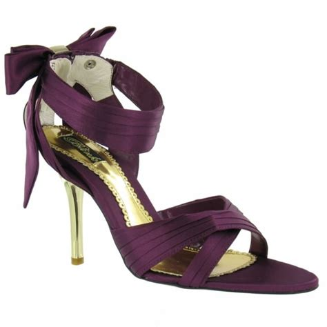 Blink Top Purple blink womens satin strappy bow sandals purple gold