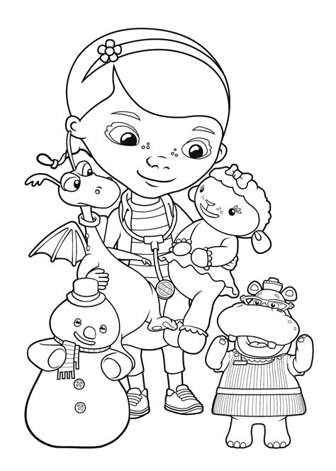 Doc Mcstuffins Coloring Pages Disney Junior by Doc Mcstuffins Coloring Pages To Print Coloring Home