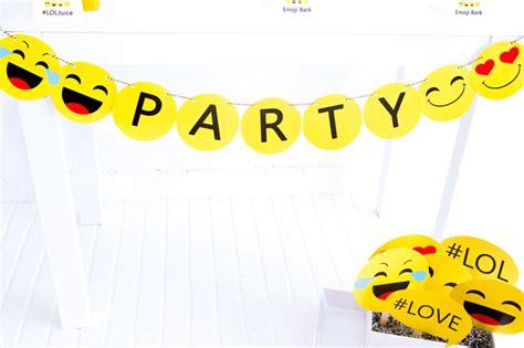 Printable Emoji Banner | pin free printable recipe card templates on pinterest
