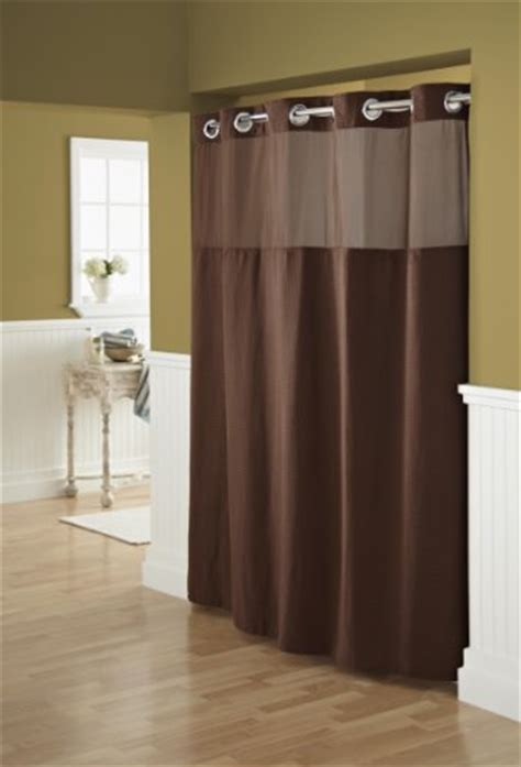 hookless shower curtain brown hookless fabric shower curtain with built in liner chocolate brown new free ebay