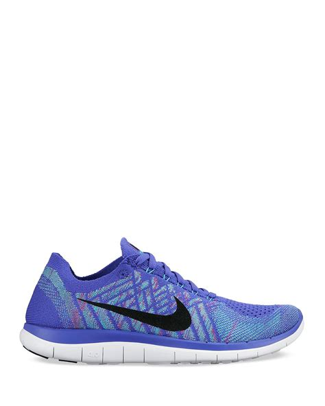 nike sneakers nike lace up sneakers free 4 0 flyknit in purple lyst