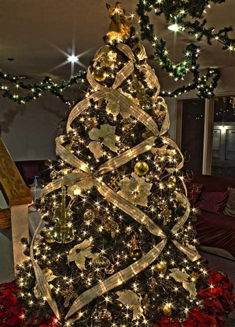 tree decorating ideas christmas tree ribbon decoration ideas designcorner