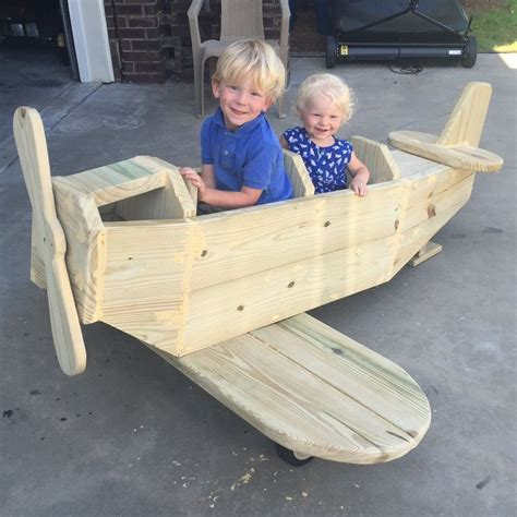 diy airplane play structure woodworking projects