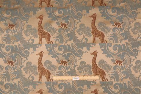 giraffe upholstery fabric 11 yards giraffe tapestry upholstery fabric in ocean