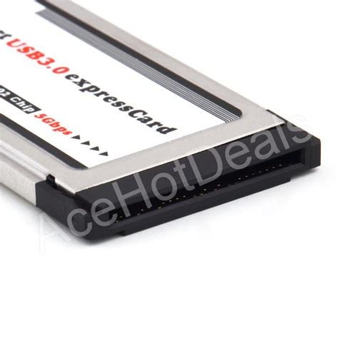 Adaptor Laptop Nec 34mm express card expresscard to 2 port usb 3 0 adapter for laptop nec chip ebay