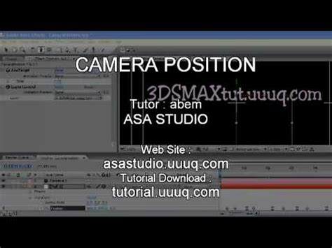 tutorial after effects camera camera position after effects tutorial youtube