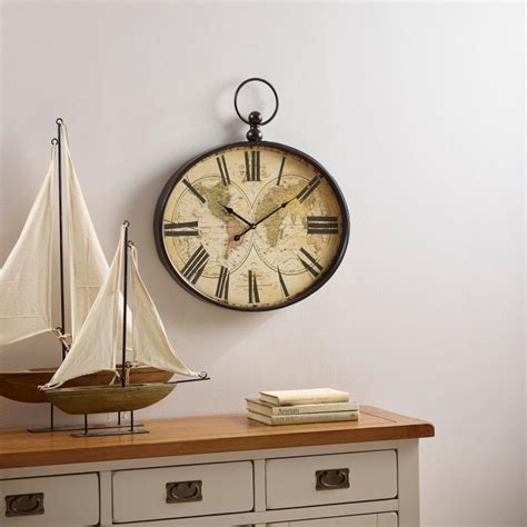 Oak Furniture Land Clocks by Columbus Wall Clock By Oak Furniture Land