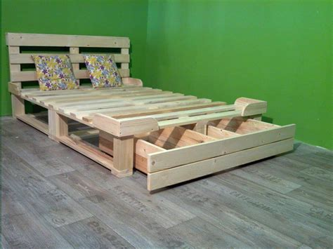 Pallet Platform Bed Pallet Platform Bed With Storage 99 Pallets