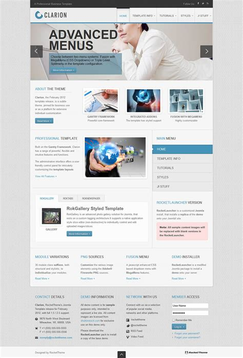 clarion joomla template free download also gifted cnc