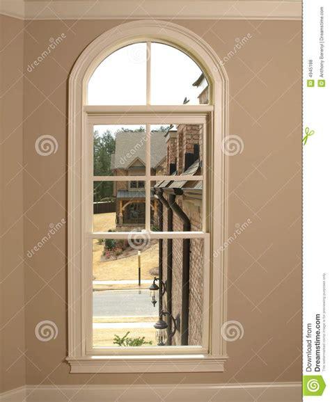 gardinenstange rundbogenfenster luxury single arch window 2 royalty free stock photos