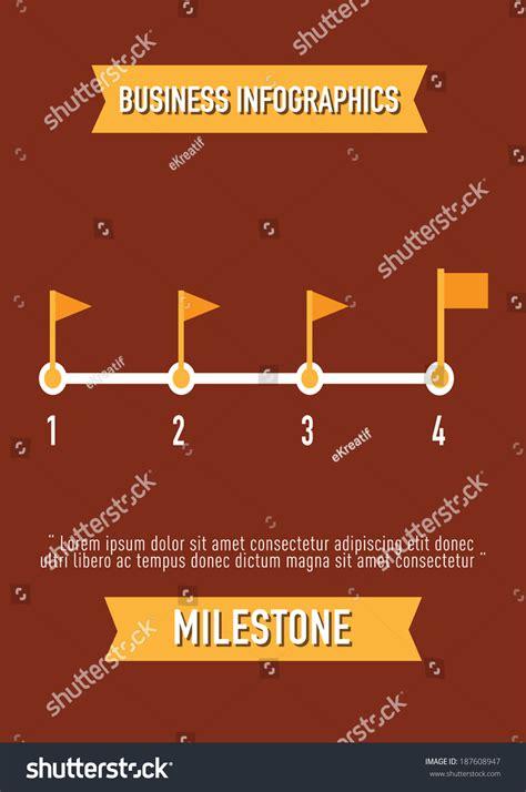 design concept elements business infographics milestone flat design elements stock