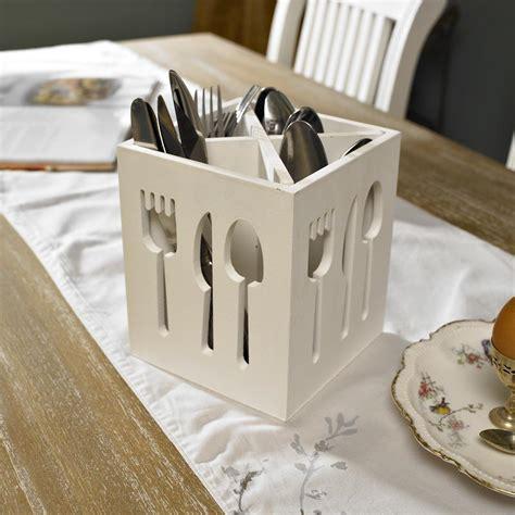 another bright idea safe kitchen knife storage white wooden square cutlery holder kitchen utensil rack