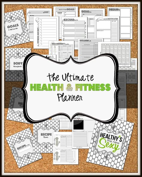 printable fitness planner free the ultimate health and fitness planner to insanity back