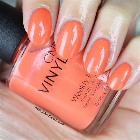 Cnd Vinylux Desert Poppy cnd vinylux flirtation collection swatches swatch and learn