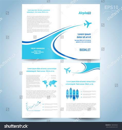 booklet design template brochure design template booklet catalog airplane stock