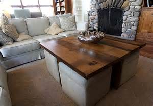 coffee table w ottomans underneath can be made using a