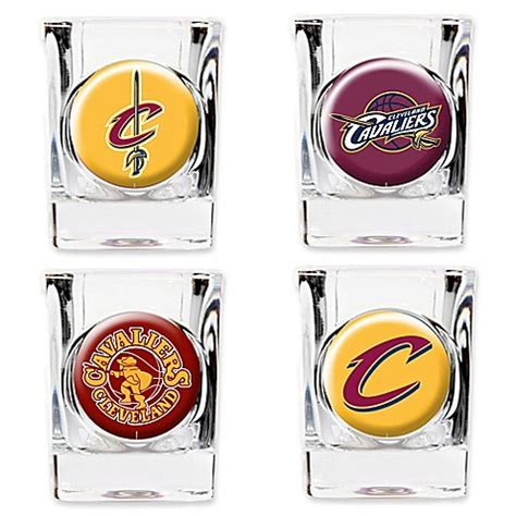 cleveland cavaliers bed set nba cleveland cavaliers shot glasses set of 4 bed bath beyond