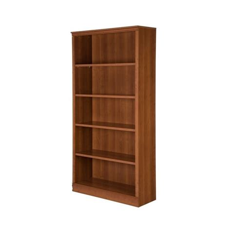 South Shore 5 Shelf Bookcase south shore 5 shelf bookcase in cherry 10146