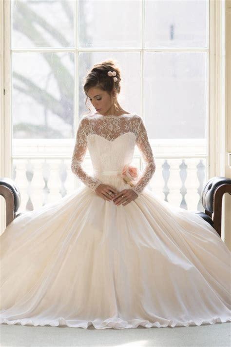 elegant lace ball gown princess wedding dresses 2018 long