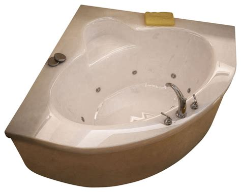 corner bathtubs with jets atlantis tubs 6060awl alexandria 60x60x23 inch corner whirlpool jetted bathtub