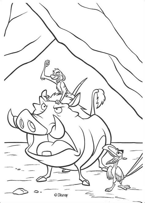 lion king timon and pumbaa coloring pages timon pumbaa and zazu coloring pages hellokids com