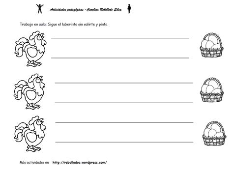 95 Ideas Dibujo De La Gallina Y Sus Derivados On | 17 fichas de actividades para nios tres aos 95