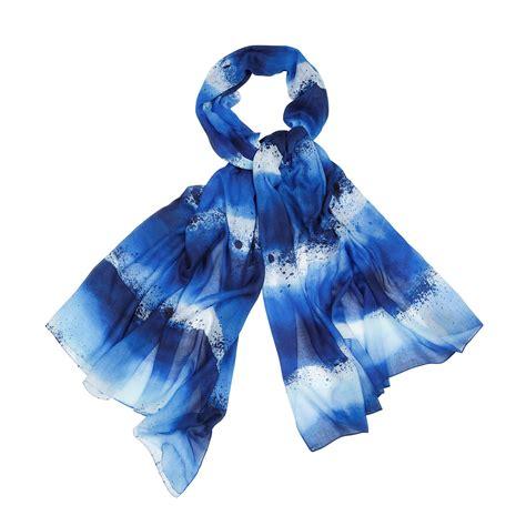 marimekko luovi blue scarf marimekko scarves sale
