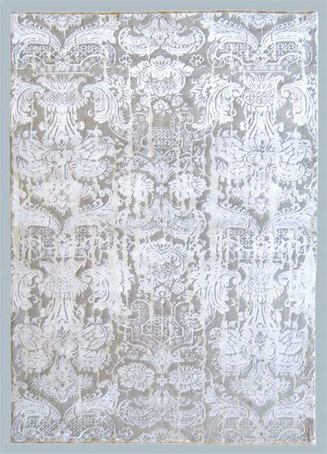 morandi tappeti tappeto bhadohi grigio chiaro a decoro classico adatto