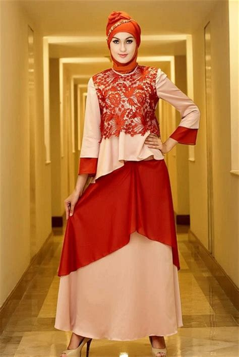 Baju Muslim Warna Merah 26 trend model baju muslim wanita untuk pesta 2015
