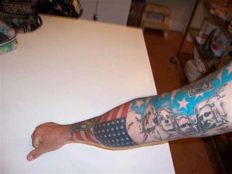 mount rushmore tattoo mount rushmore american flag