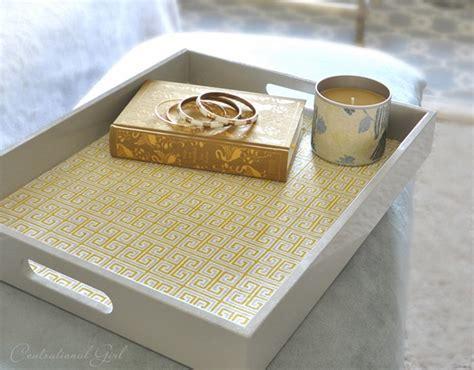 diy tray greek key fabric lined tray centsational girl
