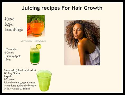 recipes for hair thickeners afro divas juicing recipes for hair growth