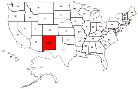 new mexico on map of usa maps us map new mexico