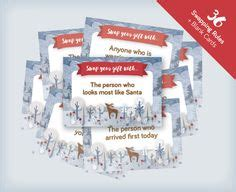 Instant Gift Card Exchange - free nautical themed forfeit cards for parties and rainy days 18 cards plus blank