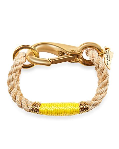 rope for jewelry the ropes beige and yellow camden rope bracelet
