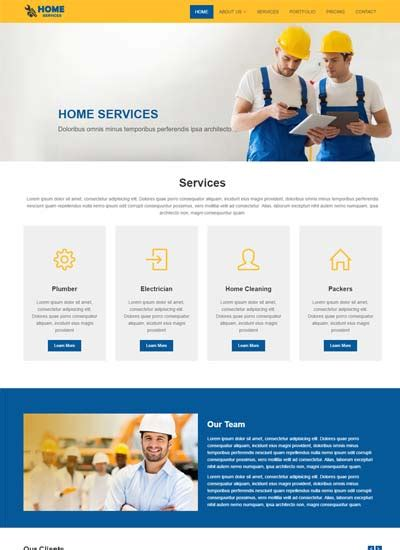 Free Responsive Bootstrap Html Web Templates Services Page Template