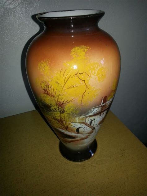 antique hand painted ls 1902 hand painted vase portugal estate sale finds