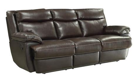 coaster macpherson casual leather match reclining sofa