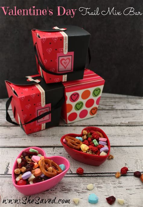 valentines day trail mix bar class party activity