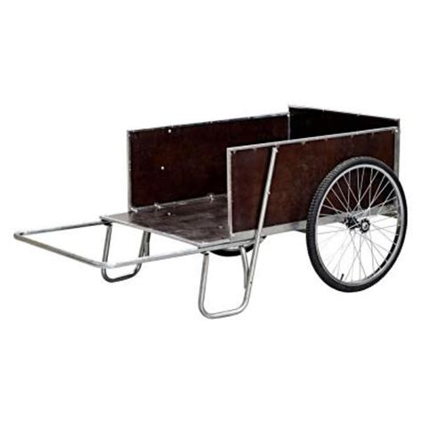 sandusky 67 in w 13 6 cu ft steel yard garden cart